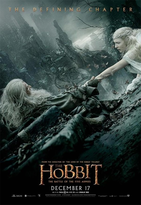 Hobbit-Battle-of-Five-Armies-Gandalf-and-Galadriel-Defining-Chapter-Poster